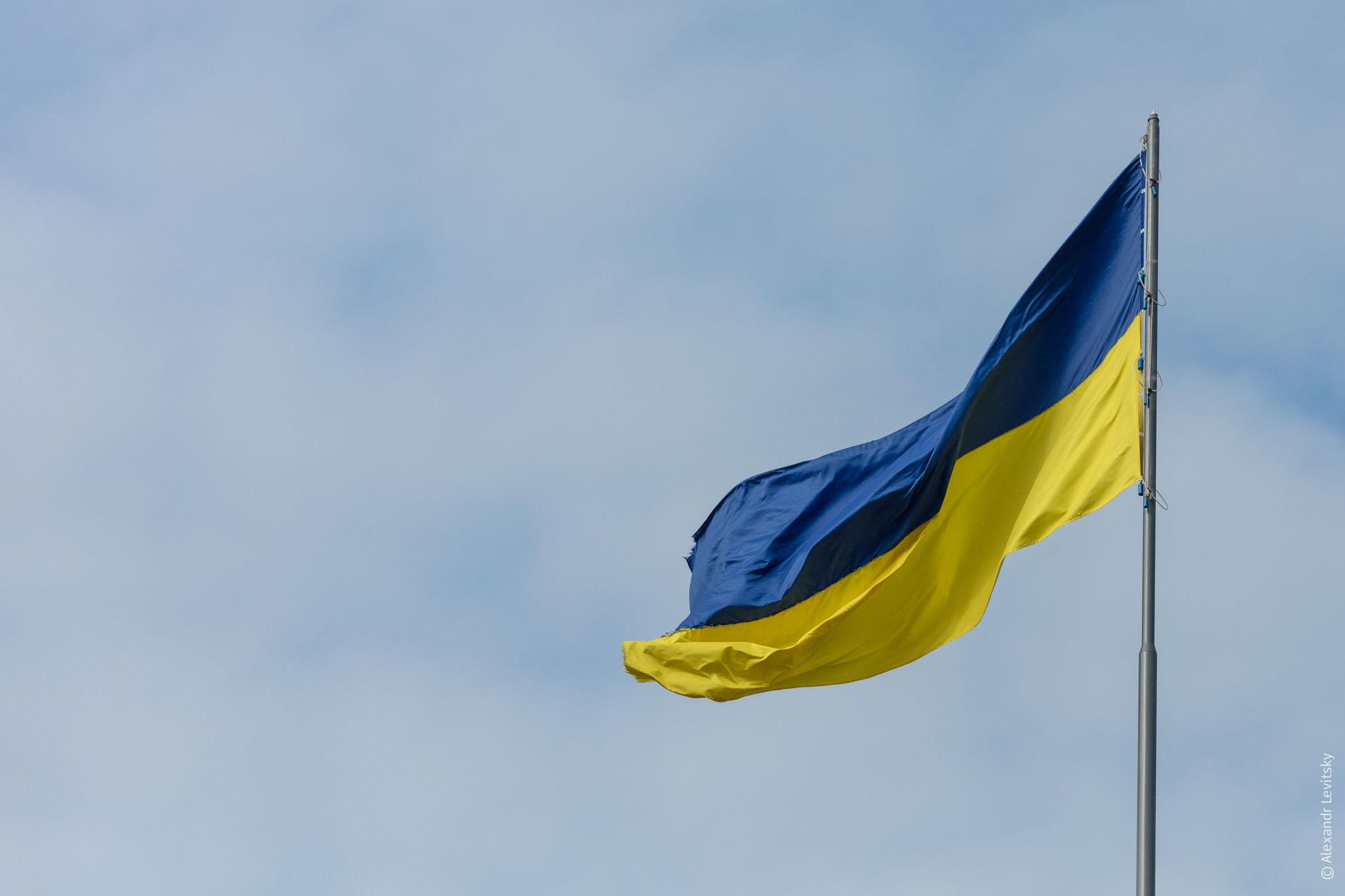 Украинский флаг в Одессе