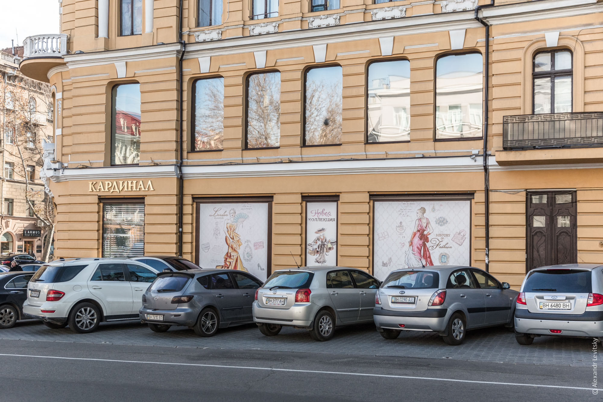 Наглухо закрытые витрины в Одессе
